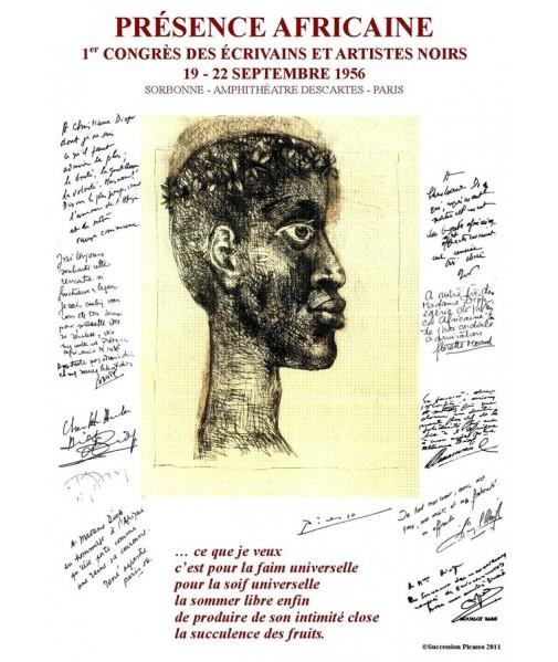 Affiche de Picasso pour le Premier Congrès des Ecrivains et Artistes Noirs