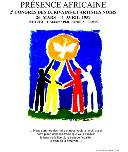 Affiche de Picasso pour le Deuxième Congrès des Ecrivains et Artistes Noirs