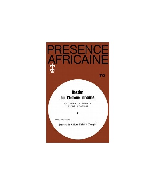 REVUE PRESENCE AFRICAINE N° 70