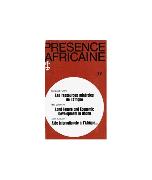 REVUE PRESENCE AFRICAINE N° 77