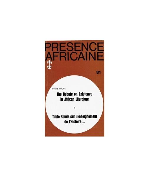 REVUE PRESENCE AFRICAINE N° 81