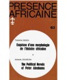 REVUE PRESENCE AFRICAINE N° 83
