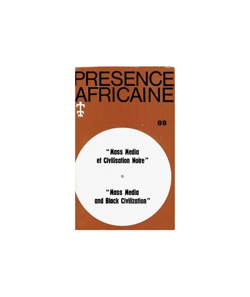REVUE PRESENCE AFRICAINE N° 86