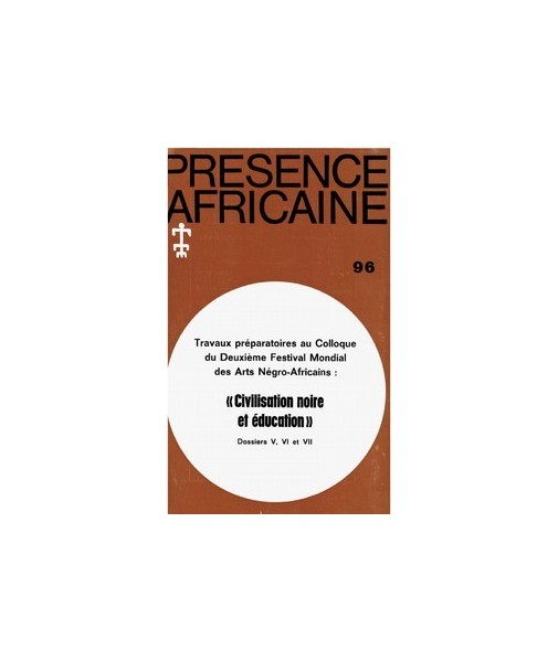 REVUE PRESENCE AFRICAINE N° 96