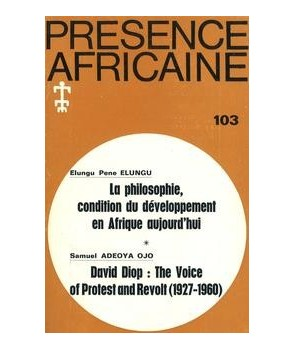 REVUE PRESENCE AFRICAINE N° 103
