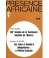 REVUE PRESENCE AFRICAINE N° 104