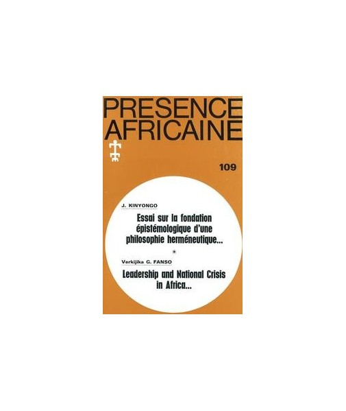 REVUE PRESENCE AFRICAINE N° 109