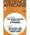 REVUE PRESENCE AFRICAINE N° 110