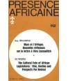 REVUE PRESENCE AFRICAINE N° 112