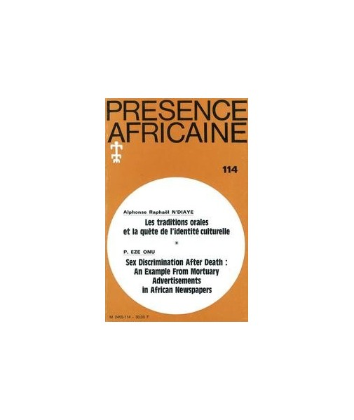 REVUE PRESENCE AFRICAINE N° 114