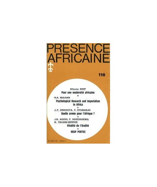 REVUE PRESENCE AFRICAINE N° 116