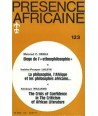 REVUE PRESENCE AFRICAINE N° 123