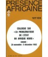 REVUE PRESENCE AFRICAINE N° 127