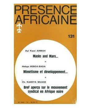 REVUE PRESENCE AFRICAINE N° 131
