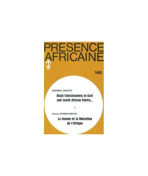 REVUE PRESENCE AFRICAINE N° 140