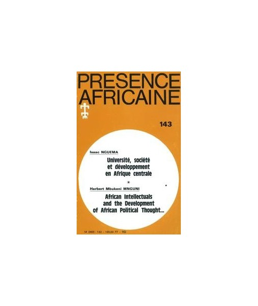 REVUE PRESENCE AFRICAINE N° 143