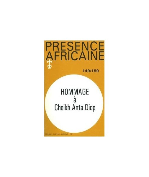 REVUE PRESENCE AFRICAINE N° 149