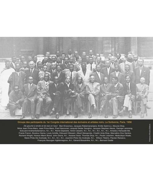Affiche : photo de groupe des participants du premier congrès des écrivains et artistes noirs