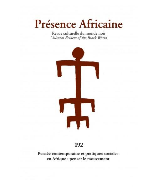 REVUE PRESENCE AFRICAINE N° 192