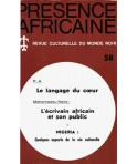 REVUE PRESENCE AFRICAINE N° 58
