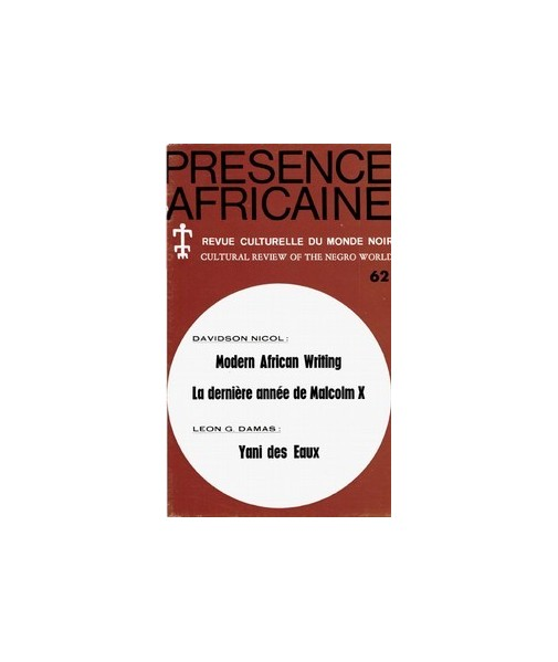 REVUE PRESENCE AFRICAINE N° 62