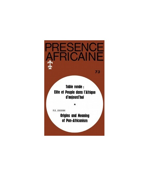 REVUE PRESENCE AFRICAINE N° 73
