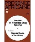 REVUE PRESENCE AFRICAINE N° 73