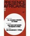 REVUE PRESENCE AFRICAINE N° 77