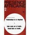 REVUE PRESENCE AFRICAINE N° 78