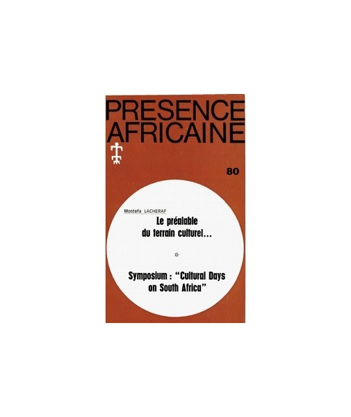 REVUE PRESENCE AFRICAINE N° 80