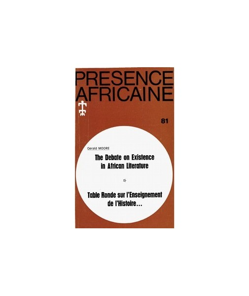 REVUE PRESENCE AFRICAINE N° 81