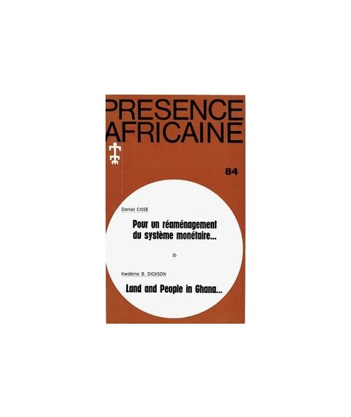 REVUE PRESENCE AFRICAINE N° 84