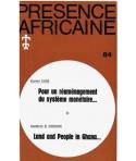 REVUE PRESENCE AFRICAINE N° 84