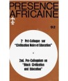 REVUE PRESENCE AFRICAINE N° 92