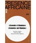 REVUE PRESENCE AFRICAINE N° 93