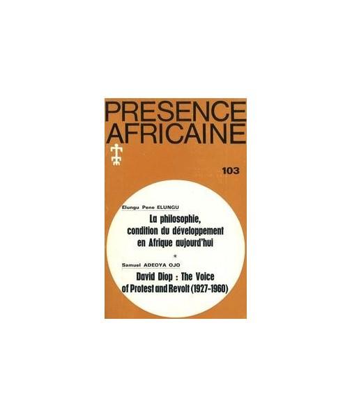 REVUE PRESENCE AFRICAINE N° 103