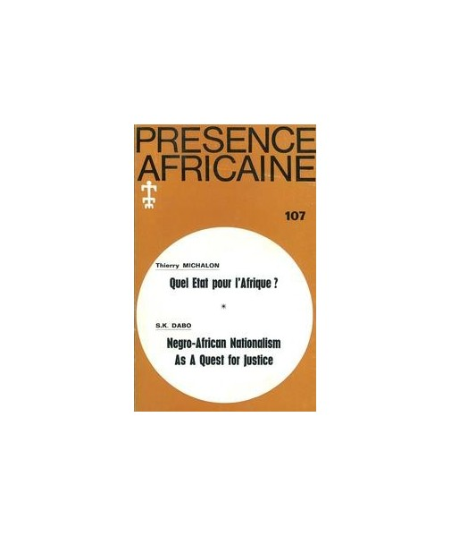 REVUE PRESENCE AFRICAINE N° 107