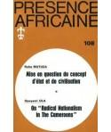 REVUE PRESENCE AFRICAINE N° 108
