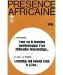 REVUE PRESENCE AFRICAINE N° 109
