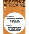 REVUE PRESENCE AFRICAINE N° 110