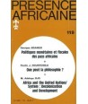 REVUE PRESENCE AFRICAINE N° 119