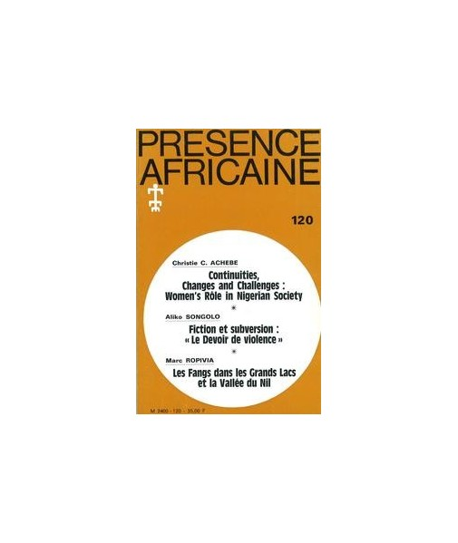 REVUE PRESENCE AFRICAINE N° 120