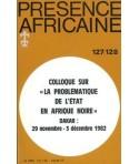 REVUE PRESENCE AFRICAINE N° 127