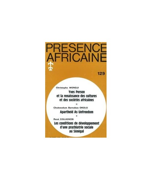 REVUE PRESENCE AFRICAINE N° 129