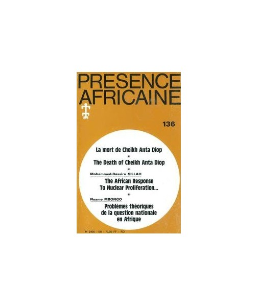 REVUE PRESENCE AFRICAINE N° 136