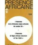 REVUE PRESENCE AFRICAINE N° 139