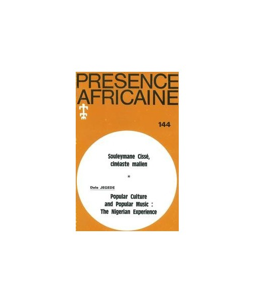 REVUE PRESENCE AFRICAINE N° 144