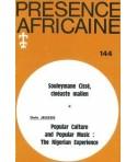 REVUE PRESENCE AFRICAINE N° 144