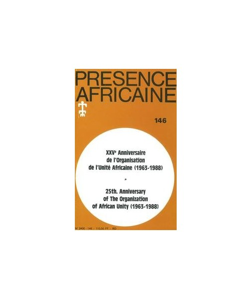 REVUE PRESENCE AFRICAINE N° 146