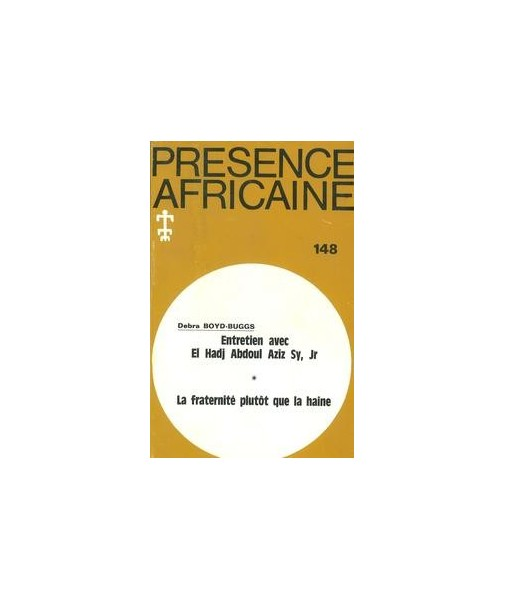 REVUE PRESENCE AFRICAINE N° 148